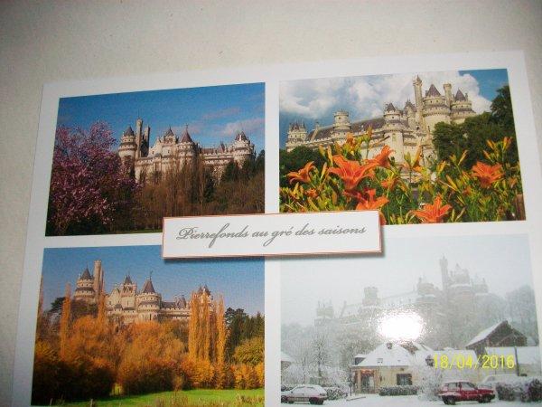 Un petit tour de PIERREFONDS dans l'Oise (cartes postales) :-) Jenny.