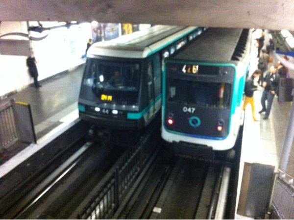 MP89 CC sur le ligne 4 du metro parisien