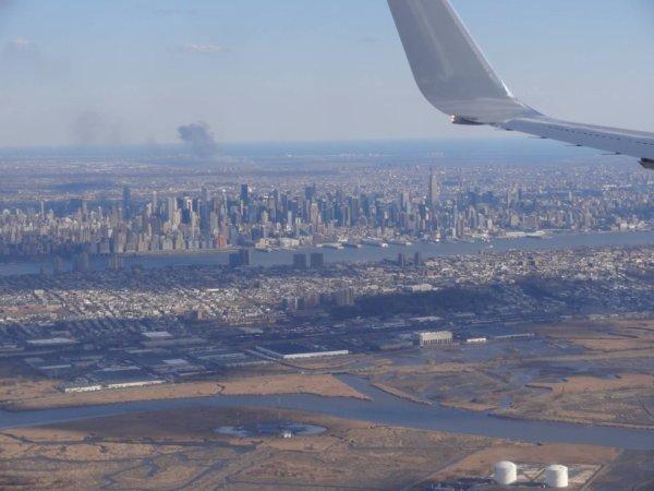 Manhattan vue de l'avion