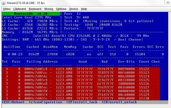 Pour une fois que j'arrive à choper de la RAM HS avec memtest86