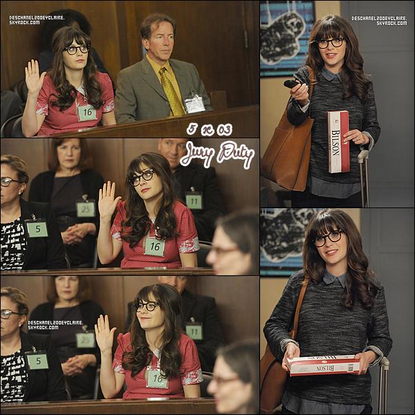 """. Découvrez les stills de Zooey dans le 5x01 de New Girl : """"Big Mama P"""" diffusé le 5 janvier !  ."""