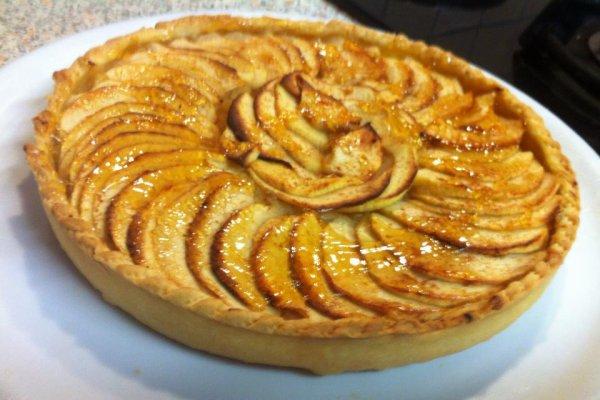 Tarte aux pommes sur compote blog de cuisine passiondu67 - Tarte aux pommes compote maison ...