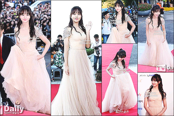 09/10/15: La splendide K. So Hyun était présente aux « Korean Drama Awards ».