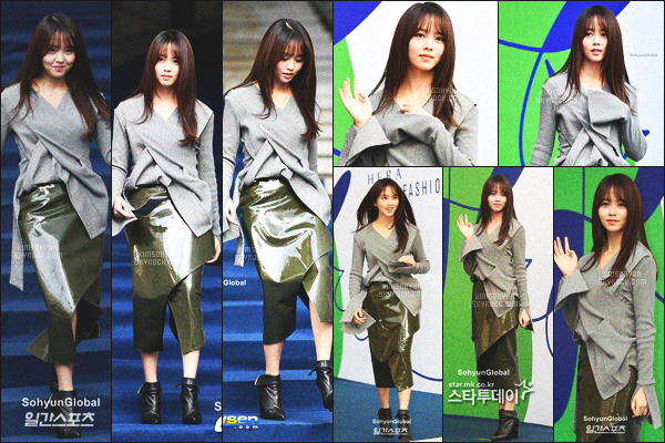 . 19/10/2016 - Kim So Hyun était présente à la Seoul Fashion Week, à Dongdaemun Design Plaza.  .