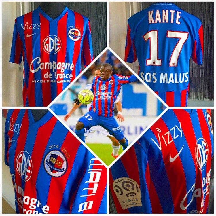Maillot porté par N'Golo Kanté lors du match OM-Caen (27/02/2015)