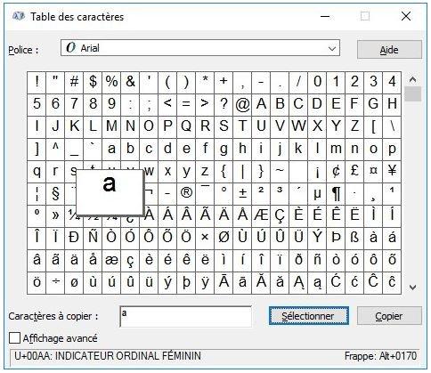 Comment insérer des caractères spéciaux ? Avec quels raccourcis clavier ?