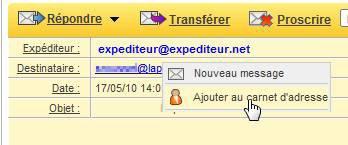 Protéger votre carnet d'adresse Email et contacts
