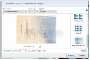 Regrouper plusieurs images dans un fichier PDF - Windows 10