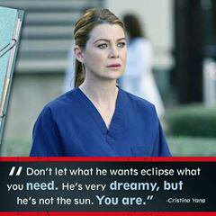 He's not the sun.You are #christina young