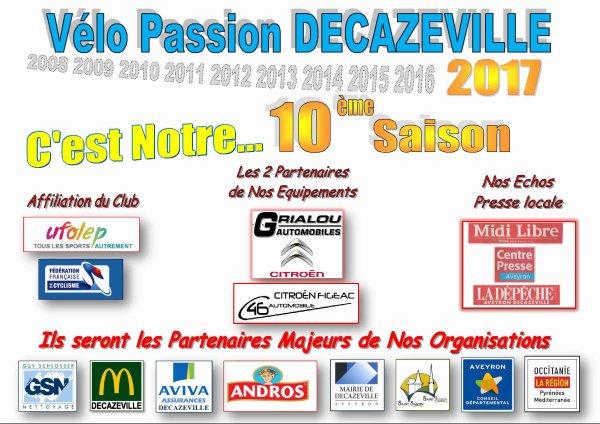 C'EST PARTI POUR NOTRE 10ème SAISON DE VELO ET DU NOUVEAU.... !!!