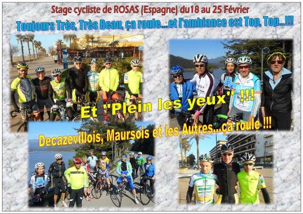 SEJOUR CYCLISTE DE ROSAS 2017 POUR BIEN PREPARER LA SAISON