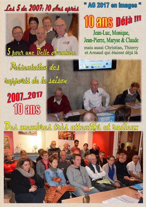 UNE 10ème ASSEMBLEE GENERALE HORS DU COMMUN AVEC BEAUCOUP D'AGREABLE SURPRISES POUR LES DIRIGEANTS ET L'ENSEMBLE DES MEMBRES....SUPER !!!