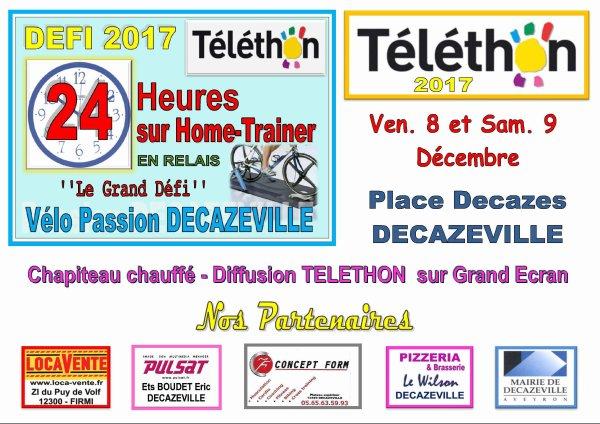 TELETHON 2017 - PARTICIPEZ AVEC NOUS AUX 24H NON-STOP - VENEZ PEDALER POUR LA BONNE CAUSE - REJOIGNEZ-NOUS SOUS NOTRE CHAPITEAU VENDREDI A PARTIR DE 16h00