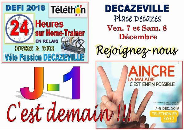 J-1 POUR LE TELETHON 2018