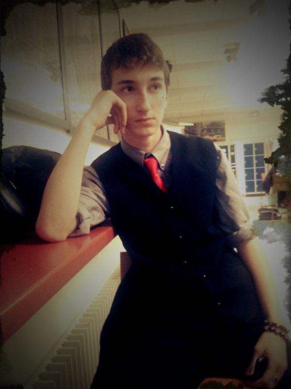 moi en mode serveur au lycée !! :p