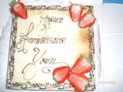 Le Gateau D Anniversaire De Youn Yannick Youn Et Ewen Mes 3 Amours