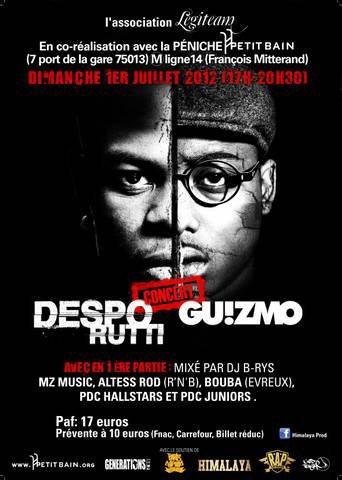 """CONCERT DESPO RUTTI / GUIZMO SUR """"LA PENICHE DU PETIT BAIN"""" - 1ERE PARTIE MIX DJ B-RYS"""