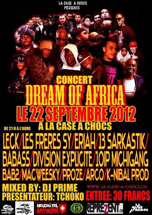 DREAM OF AFRICA • LECK / DJ B-RYS • NEUCHATEL (SUISSE)