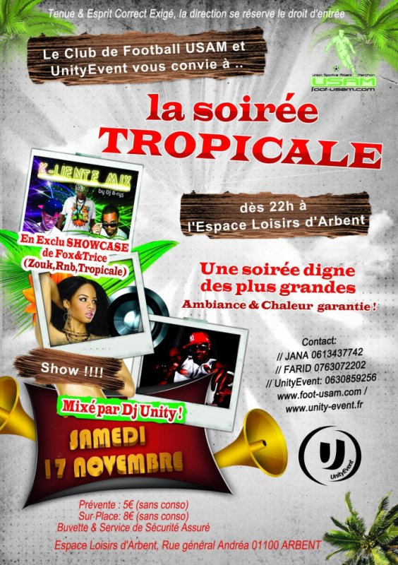 CONCERT PRIVEE + SOIREE TROPICAL BY UNITYEVENT • DJ B-RYS & DJ UNITY ONTHEMIX!!