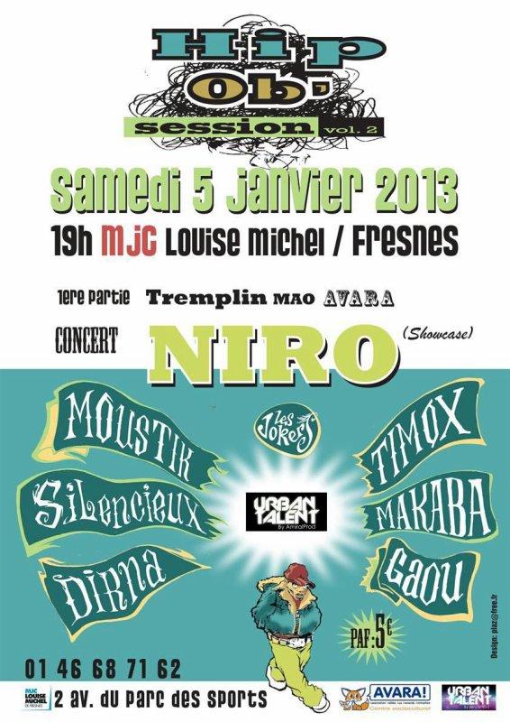 MIX PREMIERE PARTIE CONCERT NIRO!! MJC FRESNES!! 05/01/13!!