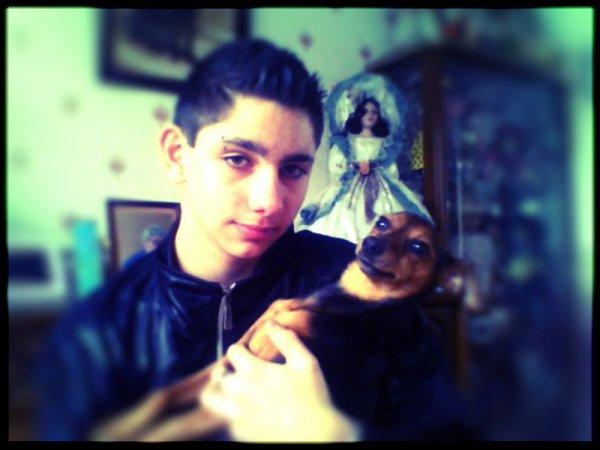 moi et mon chien  :D