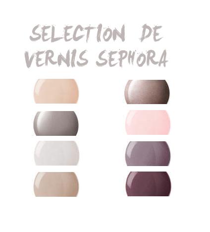 Jeudi 16 juin 2011 - Selection de vernis Sephora -