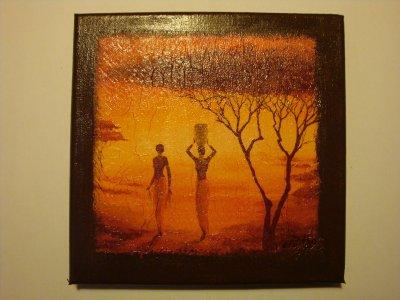 tableau africain serviettage