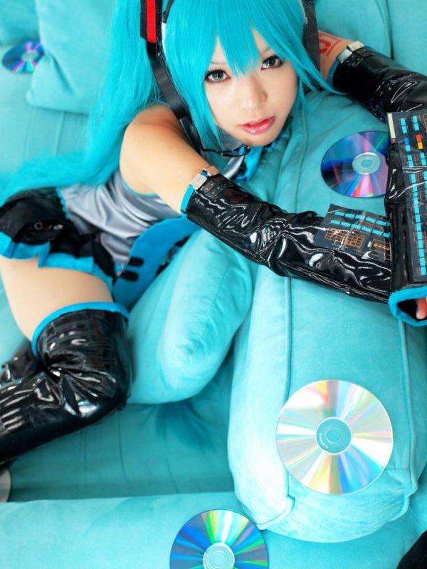 Cosplay---> Miku Hatsune