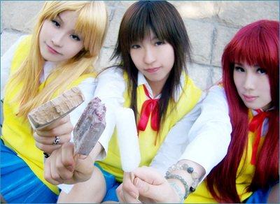 Cosplay-->GTO-->Onizuka--->Kanzaki--->Tomoko/Miyabi/Mayu
