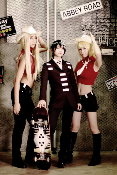 Cosplay--->Soul eater--->Maka(1)/Soul(2)/Death the kid & les s½urs Thompson (3)/Black star(4)/Franken Stein(5)/Chrona(6)