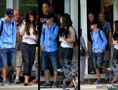 Selena quittant la maison des grands parent de justin d'autre photo