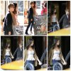 Selena et Justin quittant Thai restaurant Siam Inn a New York