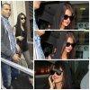 Selena quittant les studio de Radio One à Londre