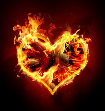 The pink fire charged in love