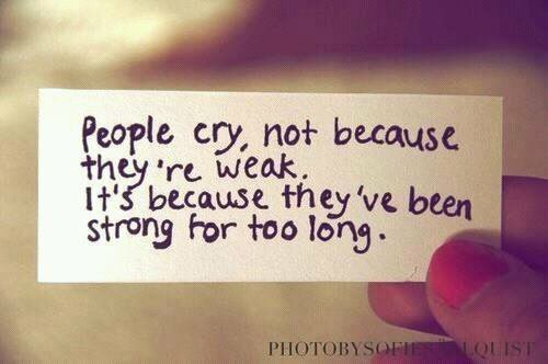 Some people cry and others no...