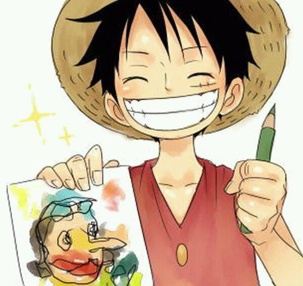 Luffy dessine Ussop ^^