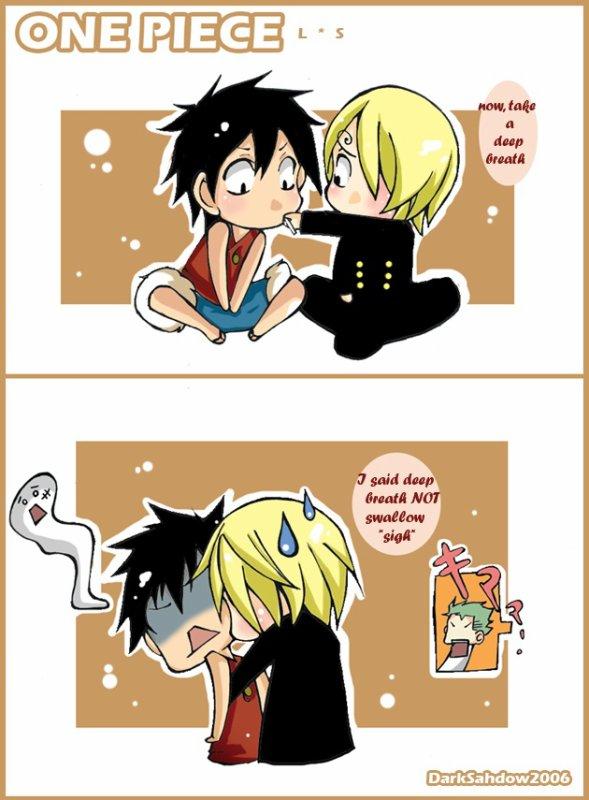 Luffy mange vraiment de tout... ♥