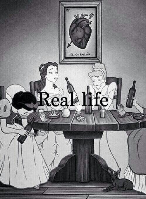 Dans la vraie vie, le prince charmant se tire avec la mauvaise princesse...