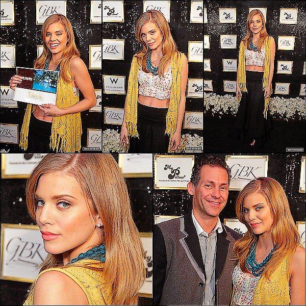 .  23 / 02 / 2012 : Events : AnnaLynne était présente au 5th Annual Hollywood Domino Gala Benefiting Artists For Peace And Justice. Pour la tenue sa sera un FLOP.  . 24 / 02 / 2012 : Events : AnnaLynne & Toujours Annalynne fut présente au GBK's Oscars Gift Lounge 2012. Et pour la tenue BOF. .