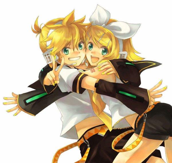 Présentation de  Kagamine Rin et Kagamine Len