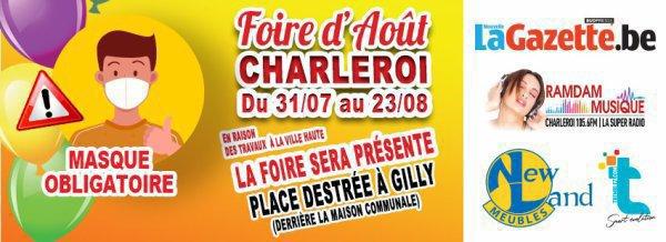 Foire de Charleroi aura leux a Gilly Place Destree du 31 juillett au 23 aout confirmer