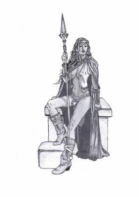 Une guerrière Celte