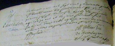 Acte de sépulture de LAVERSIN Pierre Joseph (31/03/1744 à Thiennes)