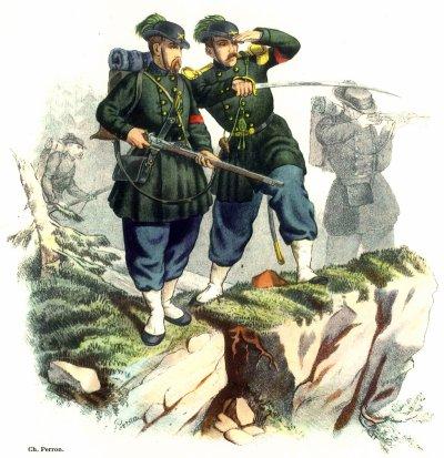 Une curiosité: l'armée suisse du XIXe siècle.