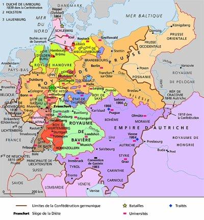 Un conflit: la guerre de 1866. I) Les forces en présence.
