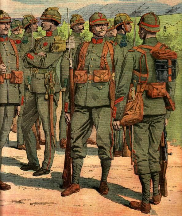 L'uniforme réséda de l'armée française.