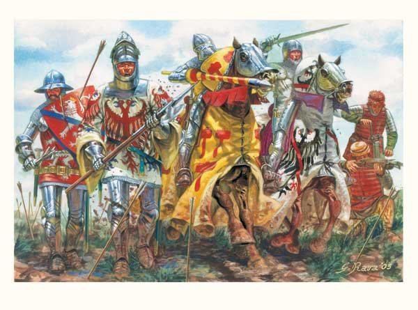 La bataille d'Azincourt: II) Les combats.