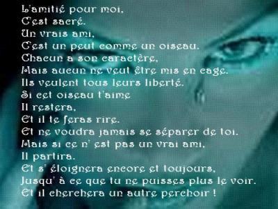 Poeme Sur Lamitié Blog De Theunamed
