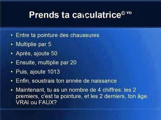 Prend ta calculatrice