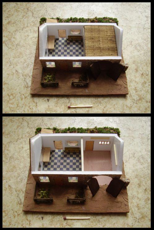 Mes premières miniatures... détails, la maison ouverte